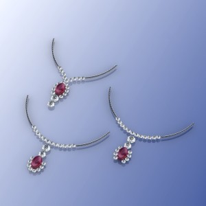 14 kw Ruby and Diamond Necklace Rendering